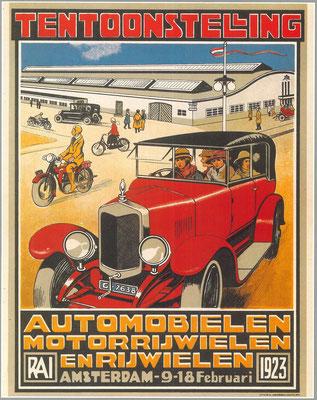 Een affiche voor de RAI 1923.
