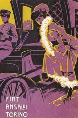 Een postkaart van Fiat uit 1905.