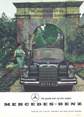 Een Nederlandse advertentie voor Mercedes-Benz uit 1963.