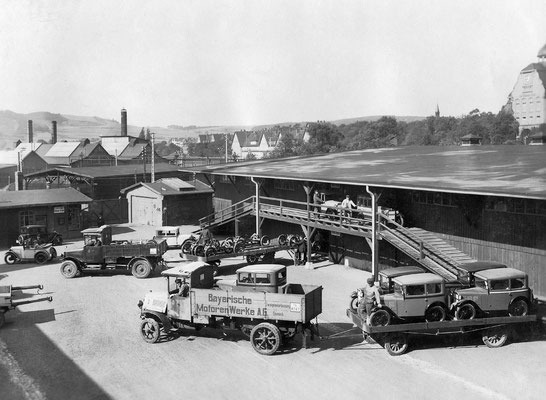 Productie van de BMW Dixi in 1929.