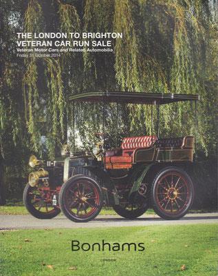 Veiling catalogus Bonhams London uit 2014, The London to Brighton Veteran Car Run Sale.