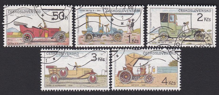 Postzegels Tsjecho-Slowakije uit 1988.