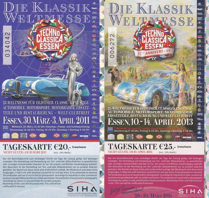 Techno Classica Essen 2011 en 2013.