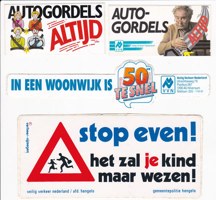Stickers veilig verkeer.