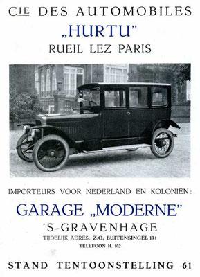 Advertentie voor Hurtu uit 1921.