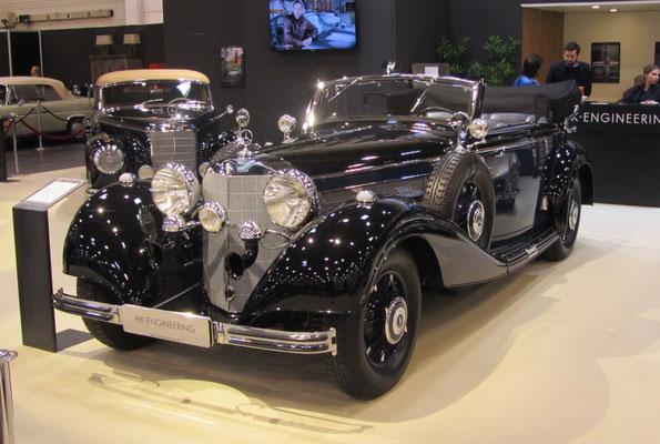 Mercedes-Benz 540 K Cabriolet B uit 1938. (Techno Classica Essen 2019)