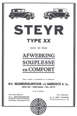 Advertentie Steyr, 1930