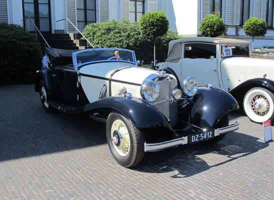 Mercedes-Benz 540 K Cabriolet A Sindelfingen uit 1936. (Concours d'Elegance Paleis Soestdijk 2019)