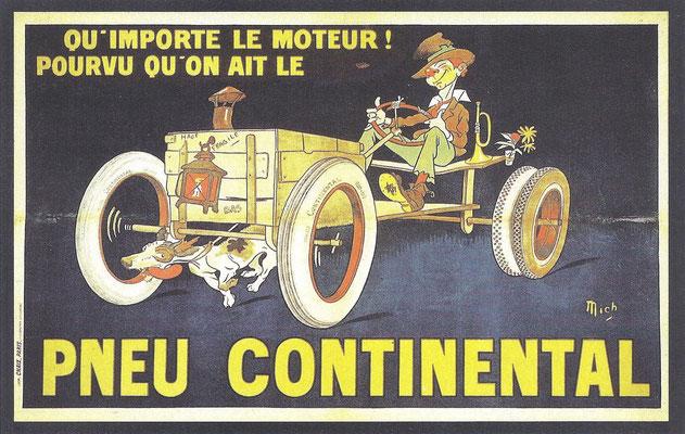Een advertentie van Continental.