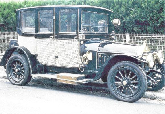 """Cottin & Desgouttes type D 16 CV """"reislimousine"""" uit 1912 met een koetswerk van Bail Jeune uit Parijs."""