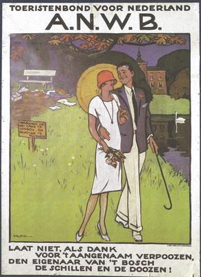 Een affiche van de A.N.W.B.