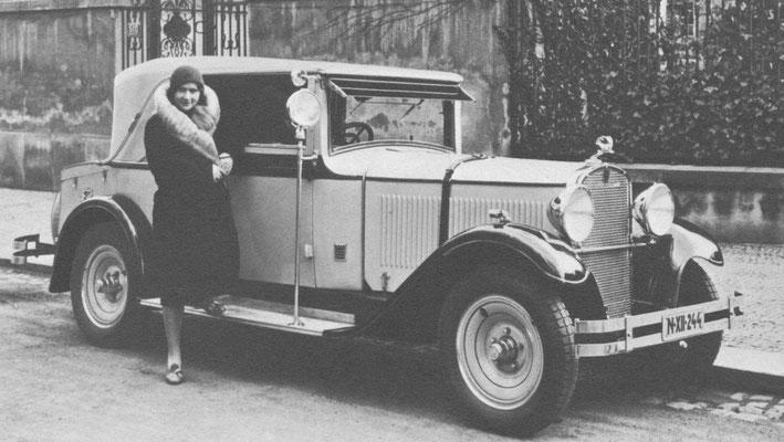 Skoda Type 645 met een luxe cabriolet carrosserie van Sodomka.