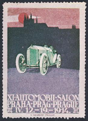 Sluitzegel Automobieltentoonstelling Praag 1914.