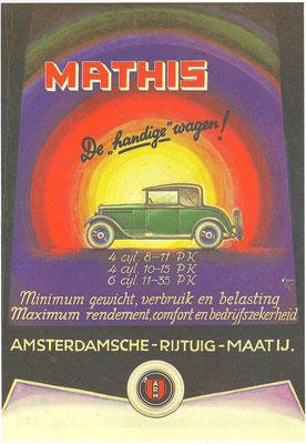 Nederlandse advertentie voor Mathis.