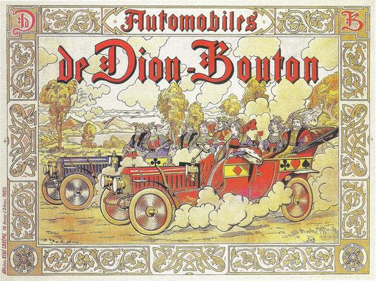 Een vroege affiche van De Dion-Bouton.