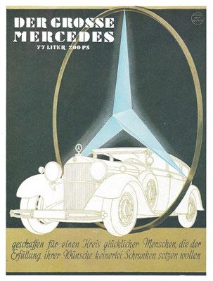 Affiche voor Der Grosse Mercedes uit 1931.