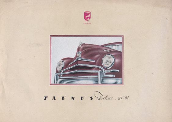 Brochure Ford Taunus Deluxe - 10 M.