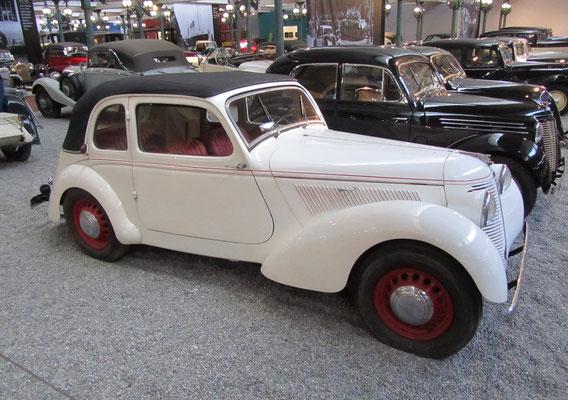 Amilcar Coach Decouvrable Type B38 Compound uit 1938 (Collection Schlumpf).