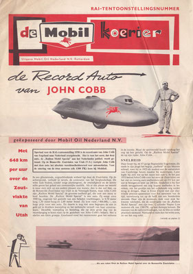 """Uitgave """"De Mobil Koerier"""" uit 1955."""
