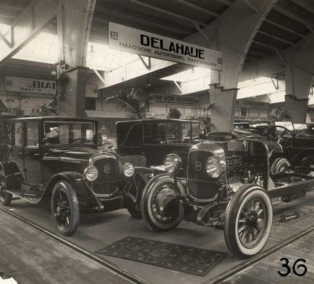 Op RAI van 1924 wordt in de stand van H.A.Mij Adrian uit Den Haag een Delahaye tentoongesteld.