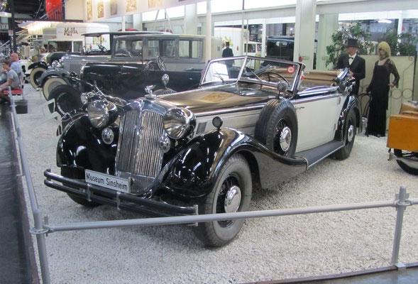 Horch 853 A uit 1938. (Technik Museum Sinsheim)