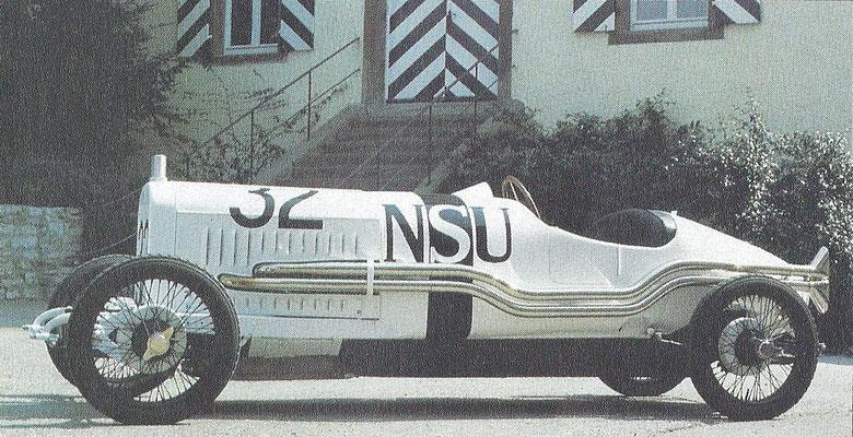 NSU Rennwagen uit 1926.