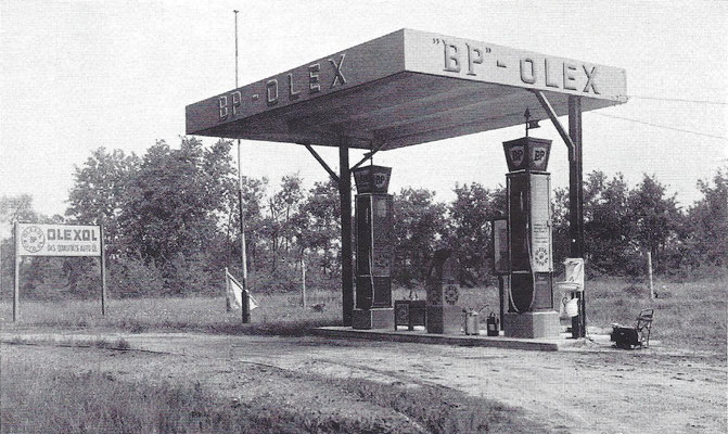 BP tankstation 1930.