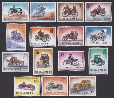 Postzegels San Marino uit 1962.