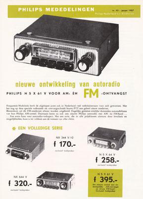 Folder Philips autoradio's uit 1957.