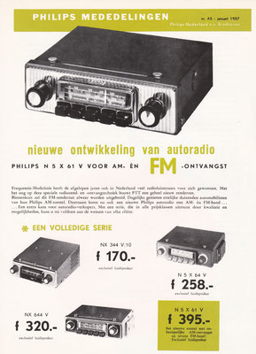 Folder Philips autoradio's uit 1957.