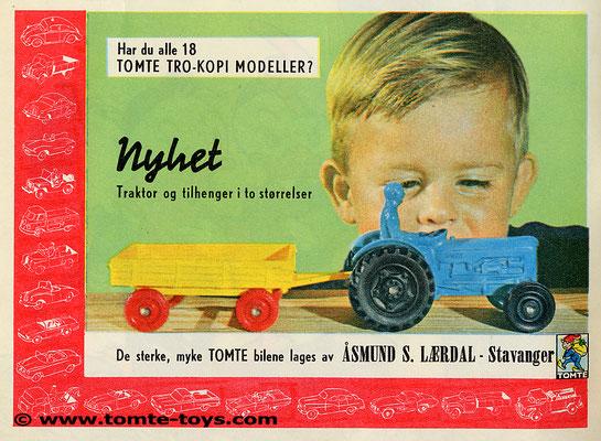 Een advertentie van Tomte uit 1965.