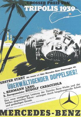 Affiche voor Mercedes-Benz uit 1939.