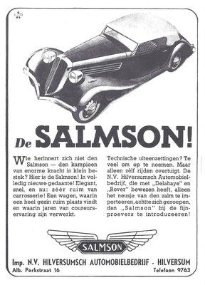 Nederlandse advertentie voor Salmson uit 1936.
