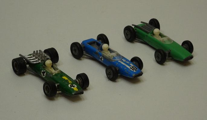 Brabham, Cooper en Lotus Formule 1. Bestbox 2518, 2519 en 2520. Made in Holland.