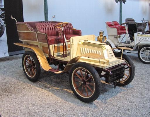 De Dion Bouton Biplace Type J uit 1902 (Collection Schlumpf).