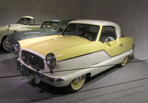 Nash Metropolitan uit 1957. (Louwman Museum in Den Haag)