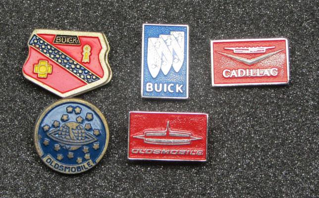 Buick, Cadillac en Oldsmobile speldjes.