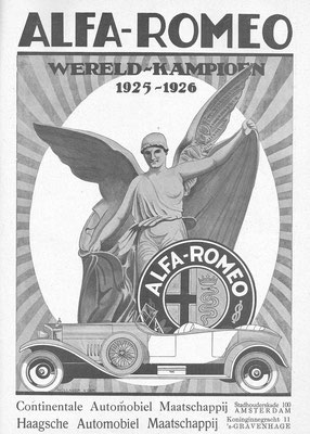 Nederlandse advertentie Alfa Romeo uit 1926.