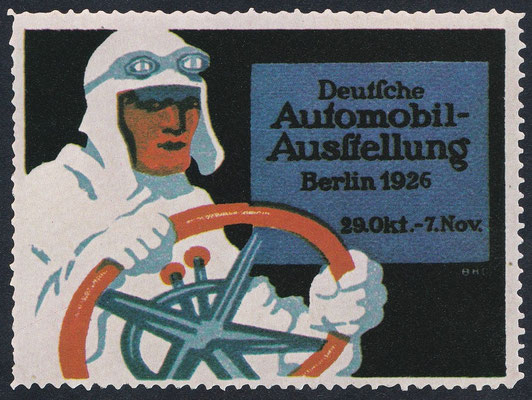Sluitzegel Automobieltentoonstelling Berlijn 1926.