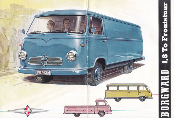 Brochure Borgward bestelwagens uit 1958.