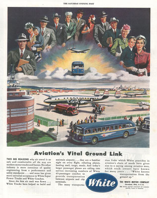 Een advertentie van White in The Saturday Evening Post uit 1946.