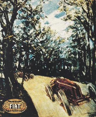 Aldo Mazza drukt met dit kunstwerk de onoverwinnelijkheid van Fiat uit.