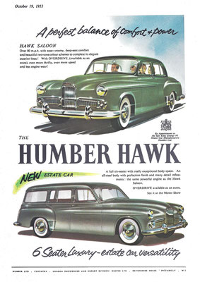 Advertentie Humber Hawk.