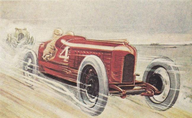Een postkaart van Fiat uit 1922.