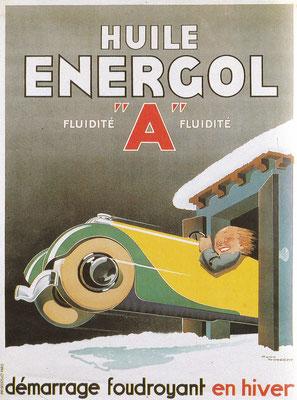 Affiche voor Energol gemaakt door René Vincent.