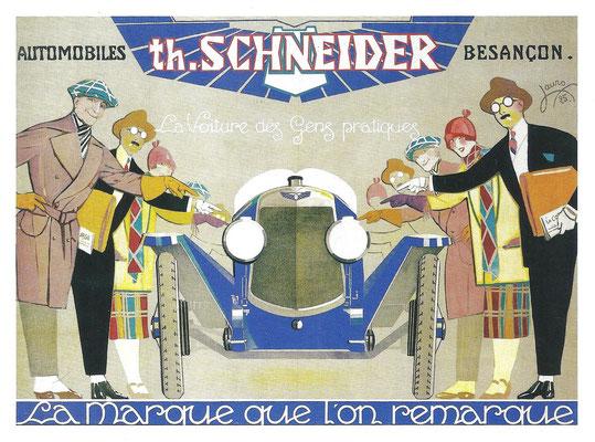 Th. Schneider maakte gebruik van een uitgebreide reclamecampagne.