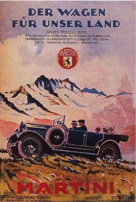 Zwitserse advertentie van Martini.