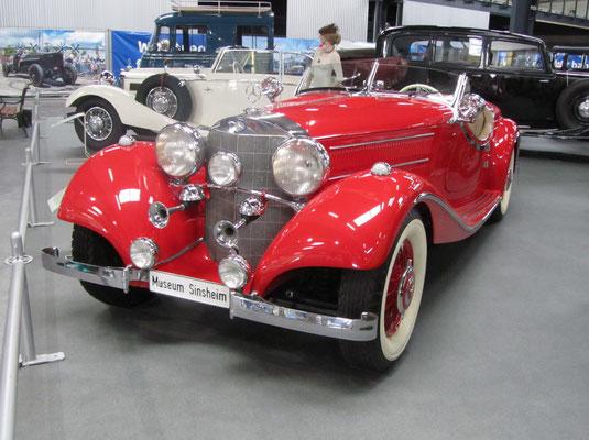 Mercedes Benz 540 K uit 1938. (Technik Museum Sinsheim)
