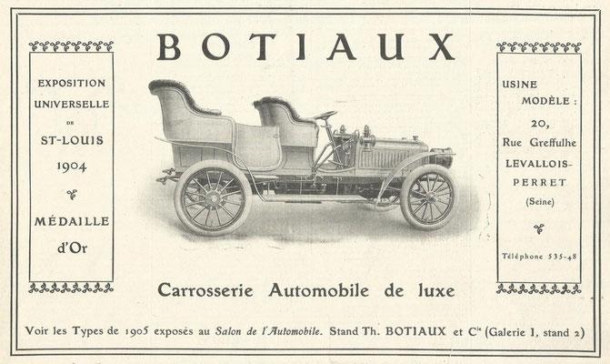 Advertentie Botiaux uit 1905.