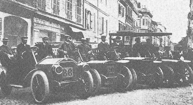 Het Brouhot team voor de Coupe des Pyrenees 1905.
